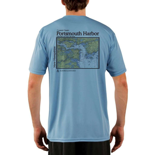 Coastal Classics Portsmouth Harbor Mens Upf 5+ Uv/sun Protection Performance T-Shirt Columbia Blue / X-Small Shirt