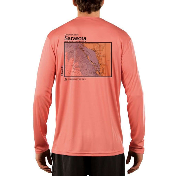 Coastal Classics Sarasota Mens Upf 5+ Uv/sun Protection Performance T-Shirt Salmon / X-Small Shirt