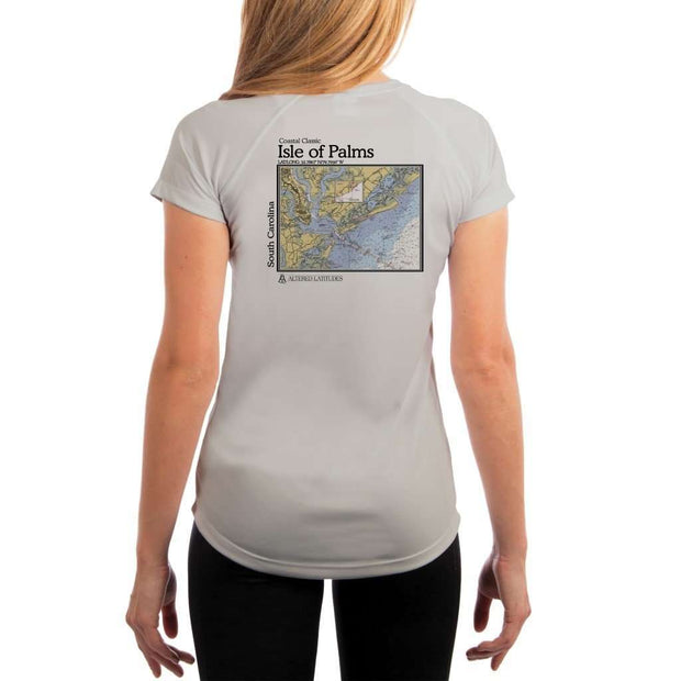Coastal Classics Isle Of Palms Womens Upf 5+ Uv/sun Protection Performance T-Shirt Pearl Grey / X-Small Shirt