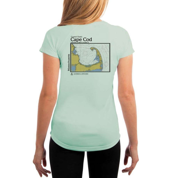 Coastal Classics Cape Cod Womens Upf 5+ Uv/sun Protection Performance T-Shirt Seagrass / X-Small Shirt