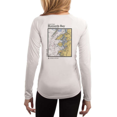 Coastal Classics Buzzards Bay Womens Upf 5+ Uv/sun Protection Performance T-Shirt White / X-Small Shirt