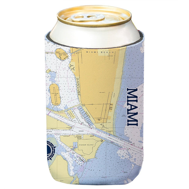 Altered Latitudes Miami Chart Standard Can Cooler (4-Pack)
