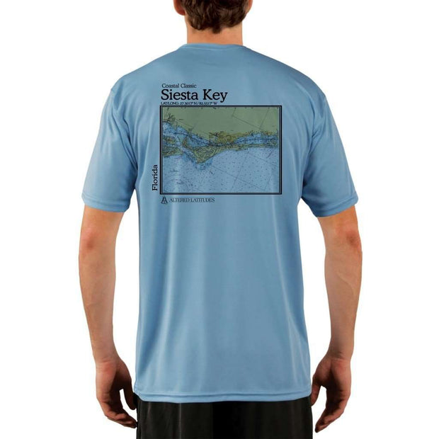 Coastal Classics Siesta Key Mens Upf 5+ Uv/sun Protection Performance T-Shirt Columbia Blue / X-Small Shirt