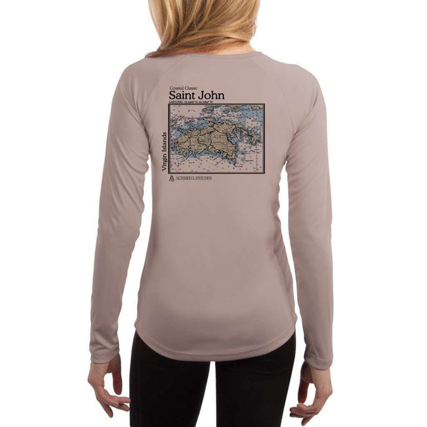 Coastal Classics Saint John Womens Upf 5+ Uv/sun Protection Performance T-Shirt Athletic Grey / X-Small Shirt