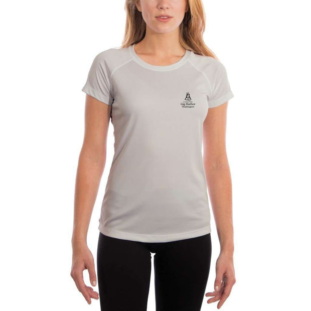 Coastal Classics Gig Harbor Womens Upf 5+ Uv/sun Protection Performance T-Shirt Shirt