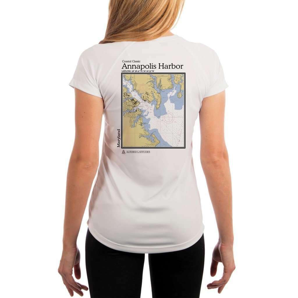 Coastal Classics Annapolis Harbor Womens Upf 50+ Uv/sun Protection Performance T-Shirt White / X-Small Shirt