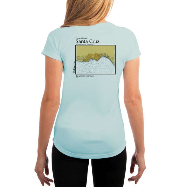 Coastal Classics Santa Cruz Womens Upf 5+ Uv/sun Protection Performance T-Shirt Arctic Blue / X-Small Shirt