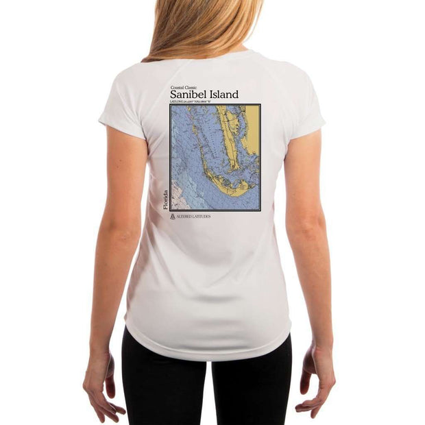 Coastal Classics Sanibel Island Womens Upf 5+ Uv/sun Protection Performance T-Shirt White / X-Small Shirt