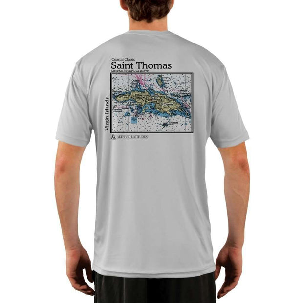 Coastal Classics Saint Thomas Mens Upf 5+ Uv/sun Protection Performance T-Shirt Pearl Grey / X-Small Shirt
