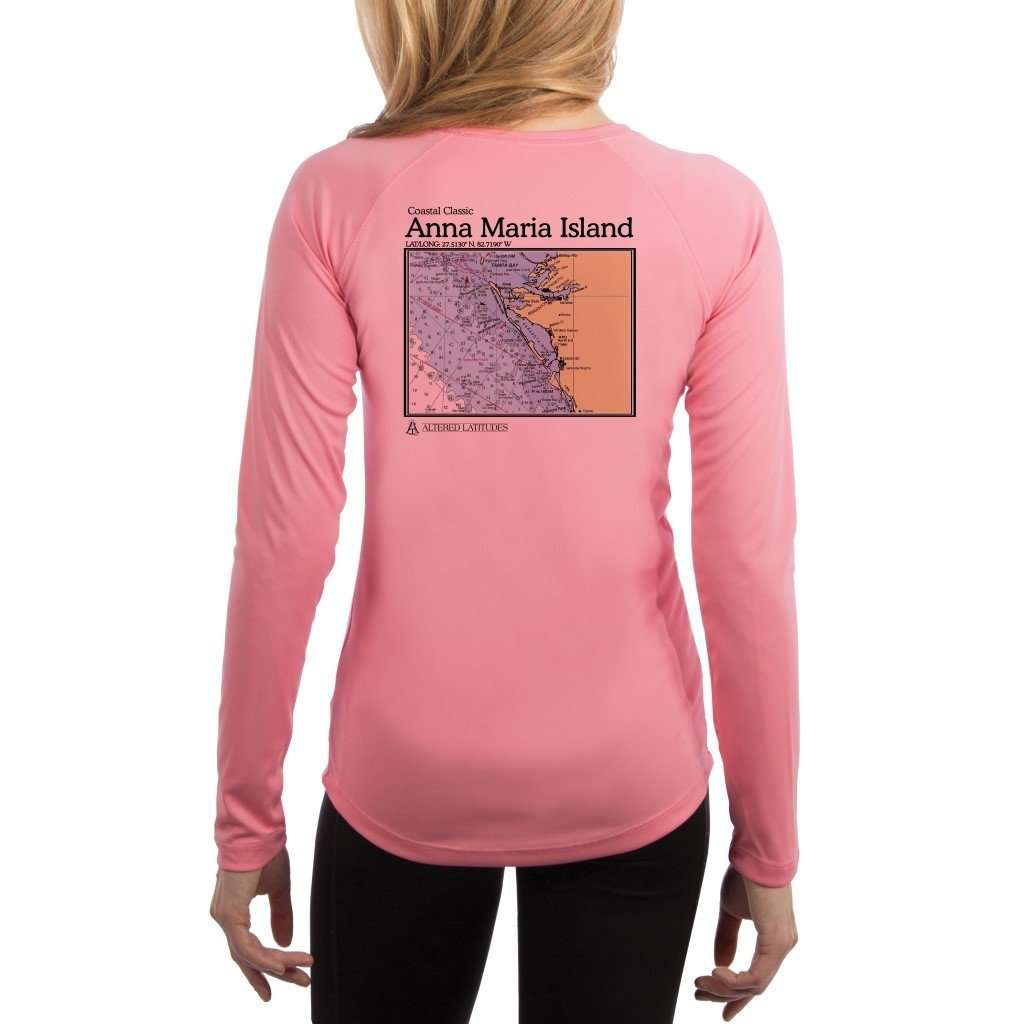 Coastal Classics Anna Maria Island Womens Upf 50+ Uv/sun Protection Performance T-Shirt Pretty Pink / X-Small Shirt