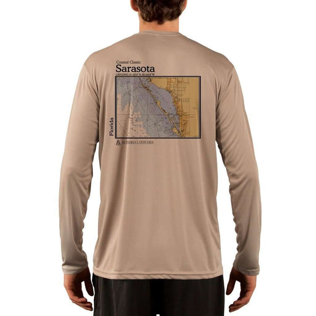 Coastal Classics Sarasota Mens Upf 5+ Uv/sun Protection Performance T-Shirt Tan / X-Small Shirt