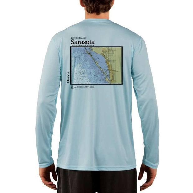 Coastal Classics Sarasota Mens Upf 5+ Uv/sun Protection Performance T-Shirt Arctic Blue / X-Small Shirt