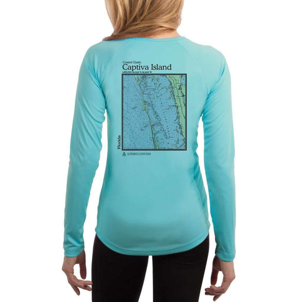 Coastal Classics Captiva Island Womens Upf 5+ Uv/sun Protection Performance T-Shirt Water Blue / X-Small Shirt