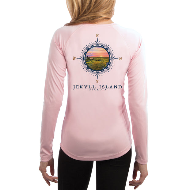 Compass Vintage Jekyll Island Women's UPF 50+ Long Sleeve T-shirt