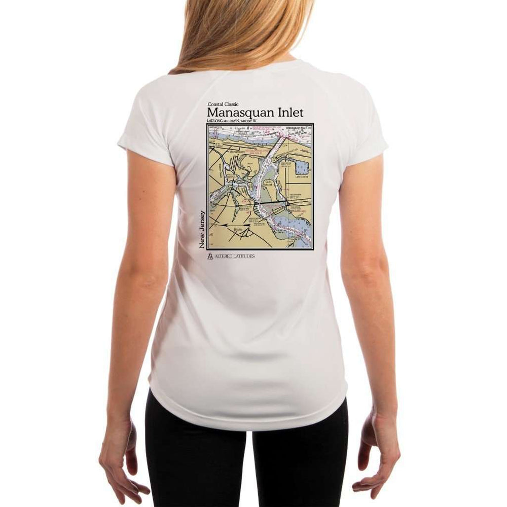 Coastal Classics Manasquan Inlet Womens Upf 5+ Uv/sun Protection Performance T-Shirt White / X-Small Shirt