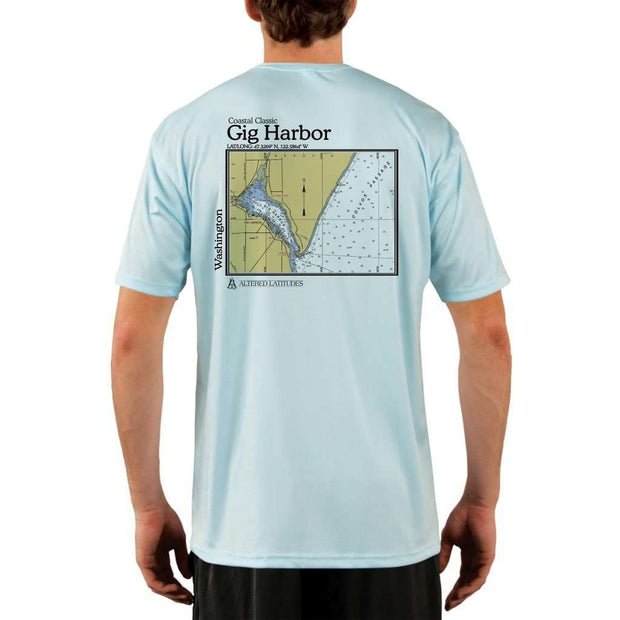 Coastal Classics Gig Harbor Mens Upf 5+ Uv/sun Protection Performance T-Shirt Arctic Blue / X-Small Shirt