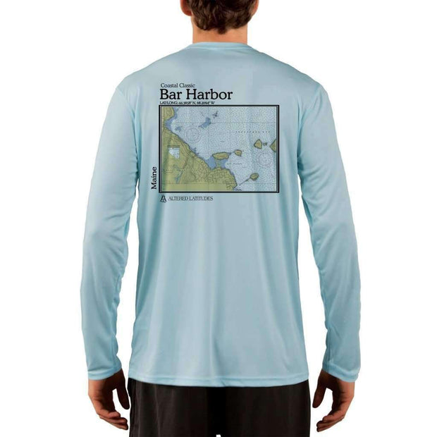 Coastal Classics Bar Harbor Mens Upf 5+ Uv/sun Protection Performance T-Shirt Arctic Blue / X-Small Shirt