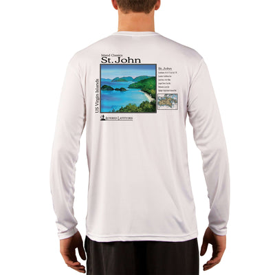 Island Classics St. John Men's UPF 50+ UV Sun Protection Long Sleeve T-Shirt