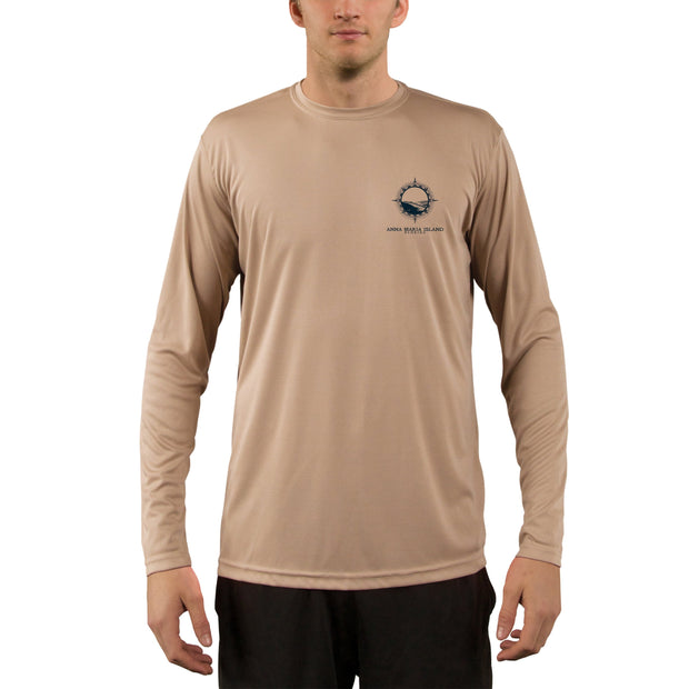 Compass Vintage Anna Maria Island Men's UPF 50+ Long Sleeve T-Shirt