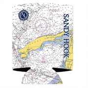 Altered Latitudes Sandy Hook, NJ Chart Standard Can Cooler (4-Pack)