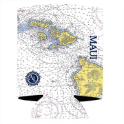 Altered Latitudes Maui, Hawaii Chart Standard Can Cooler (4-Pack)