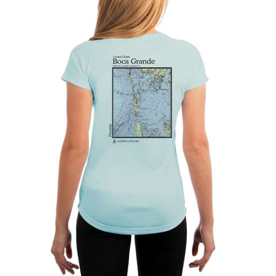 Coastal Classics Boca Grande Womens Upf 5+ Uv/sun Protection Performance T-Shirt Arctic Blue / X-Small Shirt