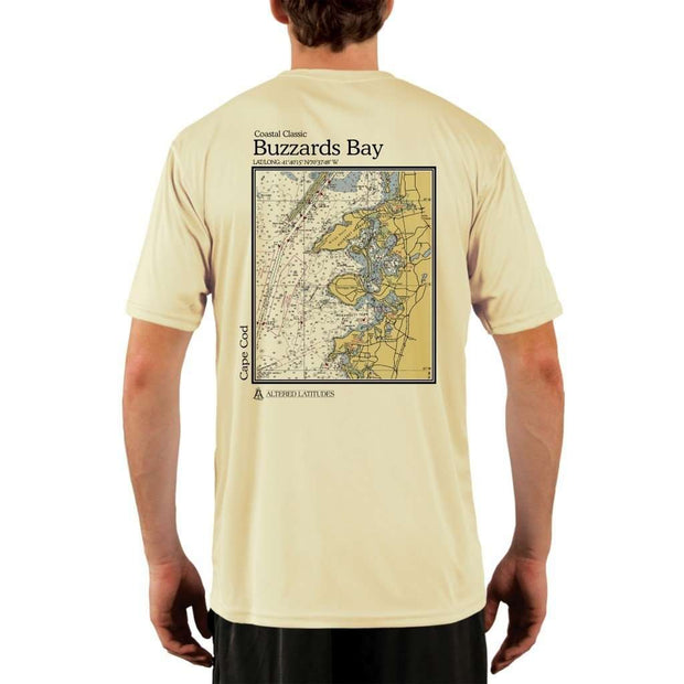 Coastal Classics Buzzards Bay Mens Upf 5+ Uv/sun Protection Performance T-Shirt Pale Yellow / X-Small Shirt