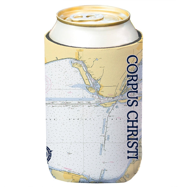 Altered Latitudes Corpus Christi Chart Standard Can Cooler (4-Pack)