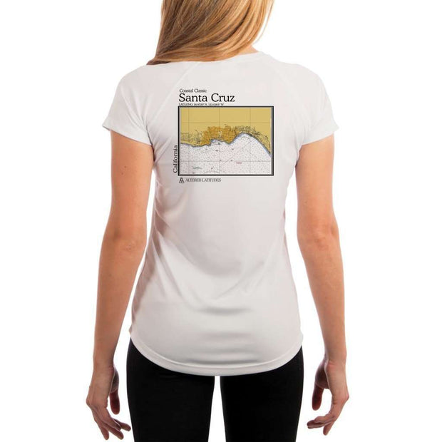 Coastal Classics Santa Cruz Womens Upf 5+ Uv/sun Protection Performance T-Shirt White / X-Small Shirt