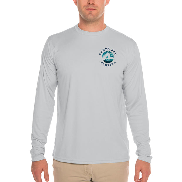 Fish Charts Tampa Bay Men's UPF 50+ Long Sleeve T-Shirt