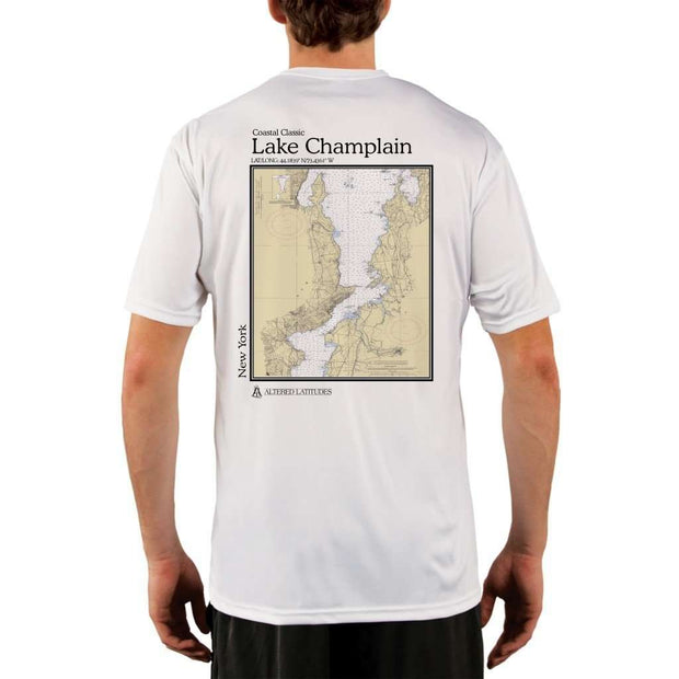 Coastal Classics Lake Champlain Mens Upf 5+ Uv/sun Protection Performance T-Shirt White / X-Small Shirt