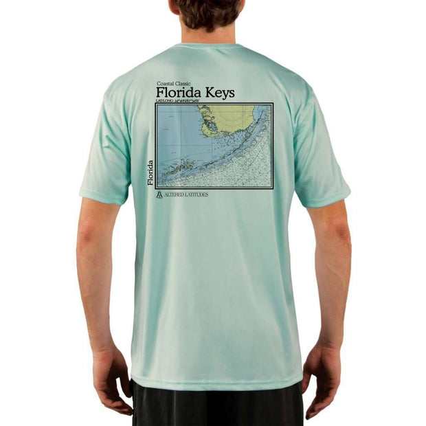 Coastal Classics Florida Keys Mens Upf 5+ Uv/sun Protection Performance T-Shirt Seagrass / X-Small Shirt