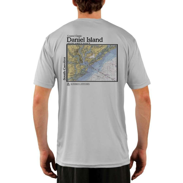 Coastal Classics Daniel Island Mens Upf 5+ Uv/sun Protection Performance T-Shirt Pearl Grey / X-Small Shirt