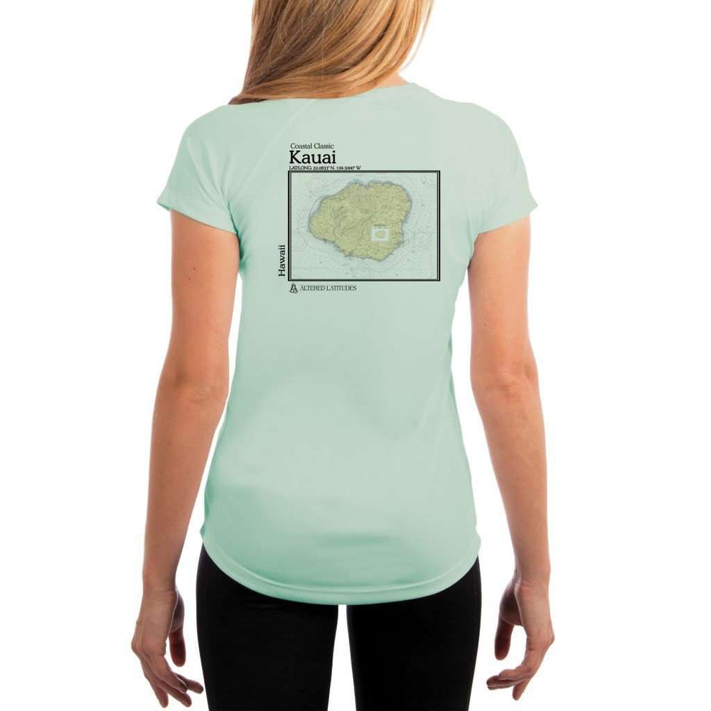 Coastal Classics Kauai Womens Upf 5+ Uv/sun Protection Performance T-Shirt Seagrass / X-Small Shirt