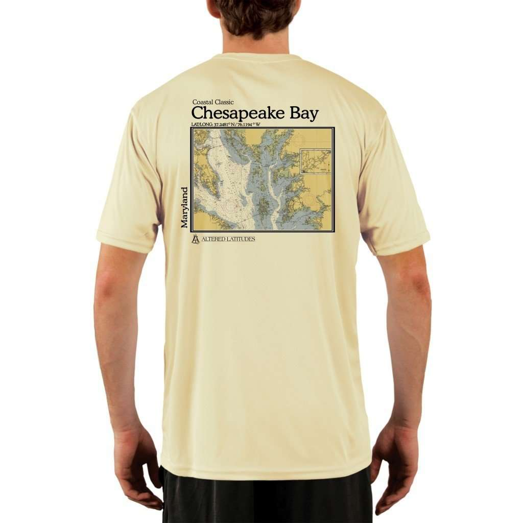 Coastal Classics Chesapeake Bay Mens Upf 50+ Uv/sun Protection Performance T-Shirt Pale Yellow / X-Small Shirt