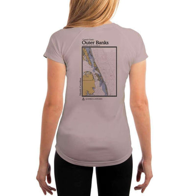Coastal Classics Outer Banks Womens Upf 5+ Uv/sun Protection Performance T-Shirt Athletic Grey / X-Small Shirt