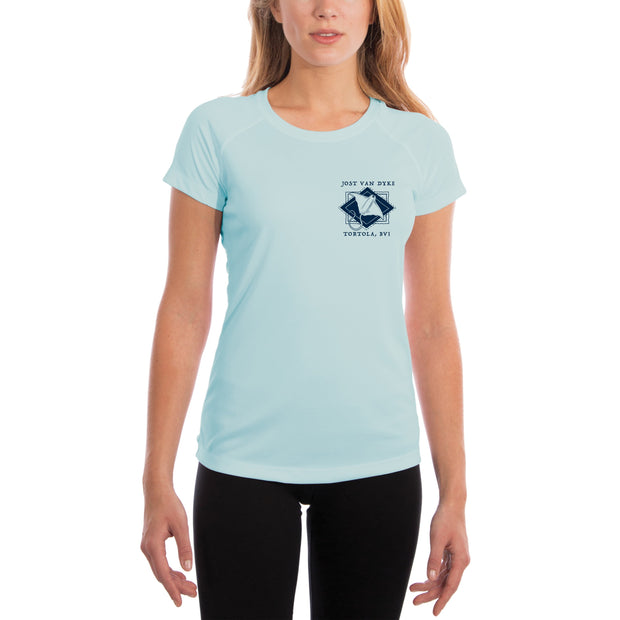 Coastal Quads Jost Van Dyke Women's UPF 50+ Short Sleeve T-shirt