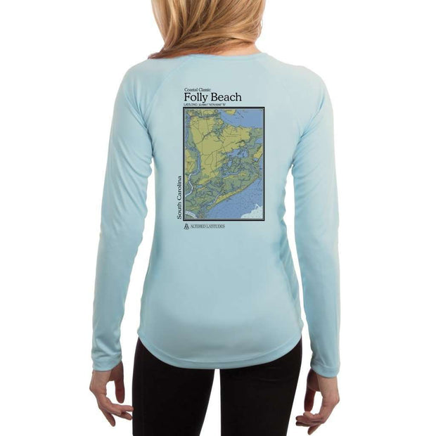 Coastal Classics Folly Beach Women's UPF 50+ UV/Sun Protection Performance T-shirt - Altered Latitudes