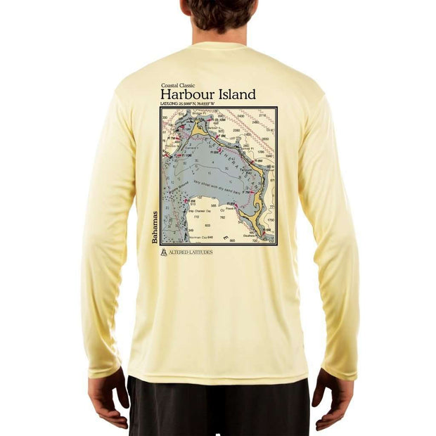 Coastal Classics Harbour Island Mens Upf 5+ Uv/sun Protection Performance T-Shirt Pale Yellow / X-Small Shirt