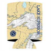 Altered Latitudes Lake Superior Chart Standard Can Cooler (4-Pack)