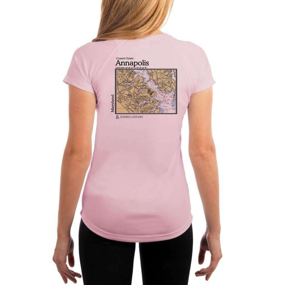 Coastal Classics Annapolis Womens Upf 5+ Uv/sun Protection Performance T-Shirt Pink Blossom / X-Small Shirt