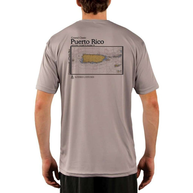 Coastal Classics Puerto Rico Mens Upf 5+ Uv/sun Protection Performance T-Shirt Athletic Grey / X-Small Shirt
