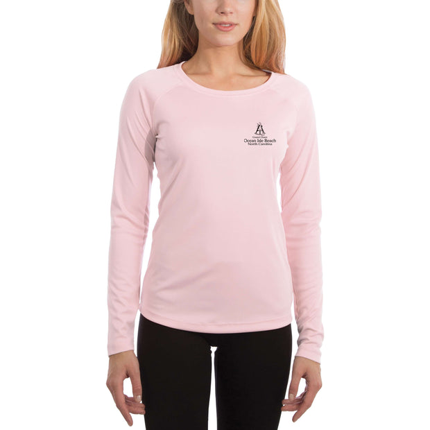 Coastal Classics Ocean Isle Beach Women's UPF 50+ UV/Sun Protection Performance T-shirt