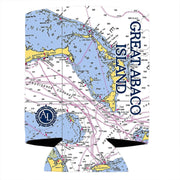 Altered Latitudes Great Abaco Island Chart Standard Can Cooler (4-Pack)