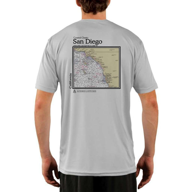 Coastal Classics San Diego Mens Upf 5+ Uv/sun Protection Performance T-Shirt Pearl Grey / X-Small Shirt