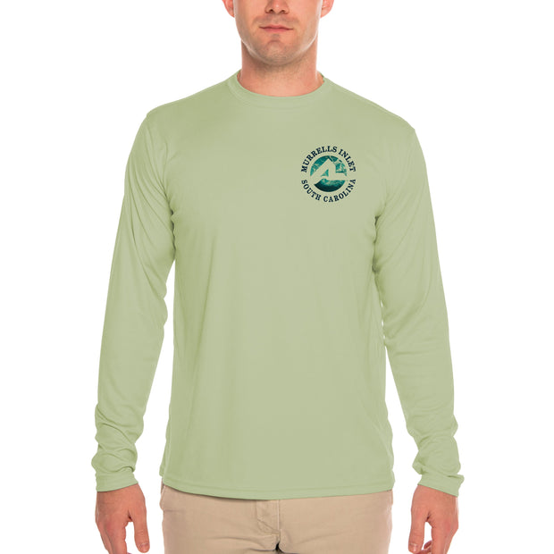 Fish Charts Murrells Inlet Men's UPF 50+ Long Sleeve T-Shirt