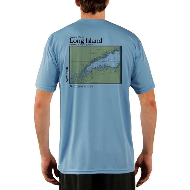 Coastal Classics Long Island Mens Upf 5+ Uv/sun Protection Performance T-Shirt Columbia Blue / X-Small Shirt