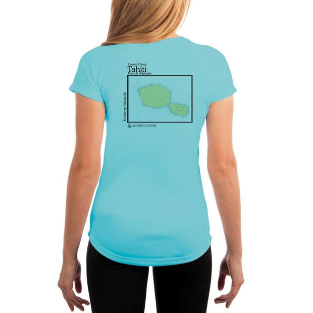 Coastal Classics Tahiti Womens Upf 5+ Uv/sun Protection Performance T-Shirt Water Blue / X-Small Shirt