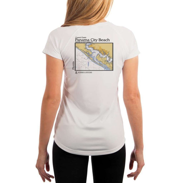 Coastal Classics Panama City Beach Womens Upf 5+ Uv/sun Protection Performance T-Shirt White / X-Small Shirt