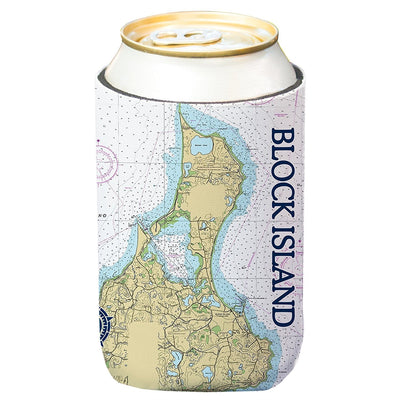 Altered Latitudes Block Island, RI Chart Standard Can Cooler (4-Pack)